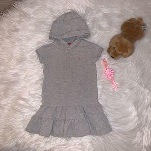 Ralph Lauren Hoodie Polo Dress 3T